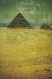 Vecchie piramidi della foto di Grunge nell'Egitto Fotografie Stock Libere da Diritti