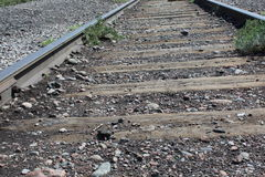 Vecchie piste del treno Fotografia Stock