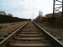 Vecchie piste del treno Fotografie Stock Libere da Diritti