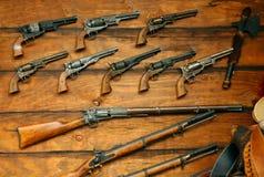 Vecchie pistole Fotografia Stock Libera da Diritti