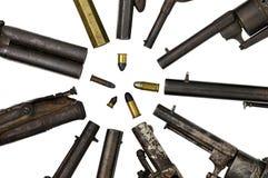 Vecchie pistole. Immagine Stock