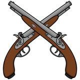 Vecchie pistole antiche Fotografia Stock Libera da Diritti