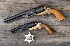 Vecchie pistole occidentali Immagine Stock