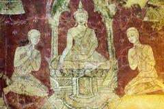 Vecchie pitture buddisti fotografia stock libera da diritti