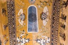Vecchie pitture religiose del soffitto fotografie stock