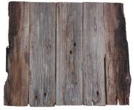 Vecchie plance del bordo di legno isolate Fotografie Stock Libere da Diritti