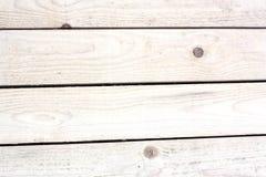Vecchie plance di legno bianche Fotografie Stock