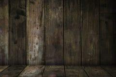 Vecchie plance di legno di seppia Immagine Stock