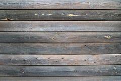 Vecchie plance di legno orizzontalmente disposte Fotografia Stock Libera da Diritti