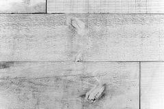 Vecchie plance di legno rustiche della parete grigia bianca grungy e stagionata come fondo senza cuciture di struttura di legno Fotografia Stock