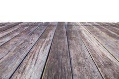 Vecchie plance isolate su bianco Fotografie Stock
