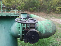 Vecchie pompe idrauliche elettriche Fotografia Stock Libera da Diritti