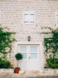 Vecchie porte bianche Struttura di legno Fotografia Stock