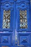 Vecchie porte variopinte a Lisbona Fotografia Stock