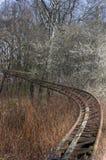 Vecchie rotaie delle montagne russe Fotografie Stock Libere da Diritti
