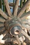 Vecchie rotelle del carrello Fotografie Stock