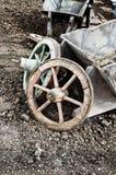 Vecchie rotelle del carrello Fotografia Stock