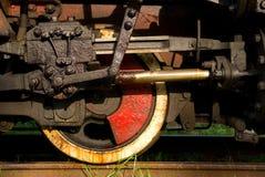 Vecchie rotelle del treno del vapore Fotografie Stock