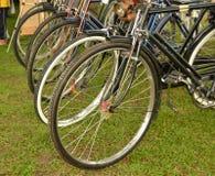 Vecchie rotelle di bicicletta Fotografie Stock Libere da Diritti