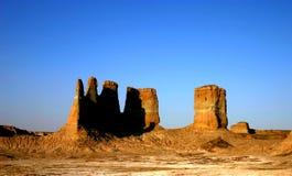 Vecchie rovine cinesi del castello Fotografie Stock