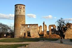 Vecchie rovine del castello Immagine Stock
