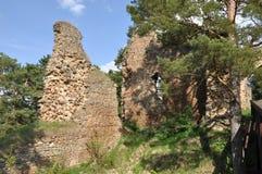Vecchie rovine del castello di Vrskamyk fotografia stock