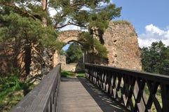 Vecchie rovine del castello di Vrskamyk immagini stock libere da diritti