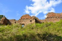 Vecchie rovine del castello di Vrskamyk fotografia stock libera da diritti