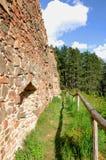 Vecchie rovine del castello di Vrskamyk fotografie stock libere da diritti