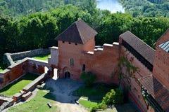 Vecchie rovine del castello in Turaida Fotografia Stock Libera da Diritti