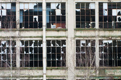 Vecchie rovine della fabbrica Fotografia Stock