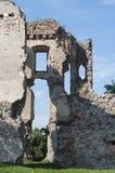 Vecchie rovine di pietra del castello Immagine Stock Libera da Diritti