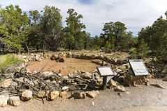 Vecchie rovine di Tusayan Immagini Stock Libere da Diritti