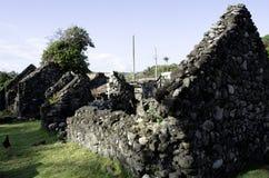 Vecchie rovine il Batanes Filippine delle Camere di Ivatan Fotografie Stock