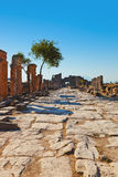 Vecchie rovine a Pamukkale Turchia Fotografie Stock