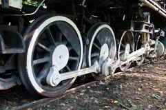 Vecchie ruote del treno Immagini Stock