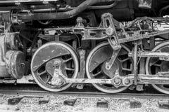 Vecchie ruote del treno a vapore Fotografia Stock Libera da Diritti