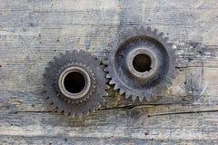 Vecchie ruote di ingranaggio fotografia stock libera da diritti