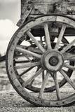 Vecchie ruote di vagone Fotografia Stock
