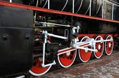 Vecchie ruote locomotive Immagine Stock