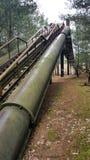 Vecchie scale abbandonate Immagine Stock Libera da Diritti