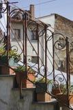 Vecchie scale con la guida del metallo Immagine Stock Libera da Diritti