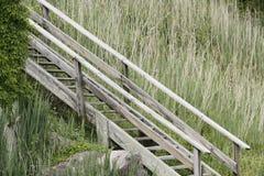 Vecchie scale della spiaggia Immagini Stock