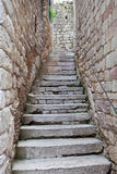 Vecchie scale di pietra Immagine Stock Libera da Diritti