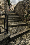 Vecchie scale di pietra Fotografie Stock