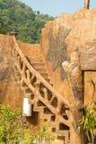 Vecchie scale di pietra Fotografia Stock