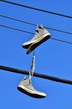 Vecchie scarpe Immagine Stock