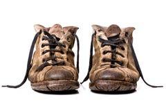 Vecchie scarpe Fotografie Stock
