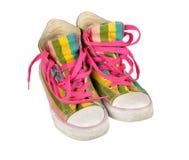 Vecchie scarpe da tennis Fotografia Stock