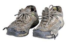 Vecchie scarpe da tennis Fotografia Stock Libera da Diritti